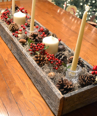 Christmas centerpiece made with palletsdiy pallet - Sapin de noel en palette ...
