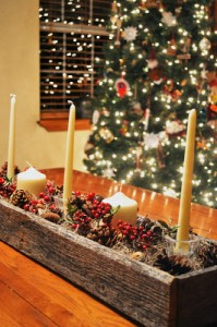 Christmas center made ​​with pallets 6
