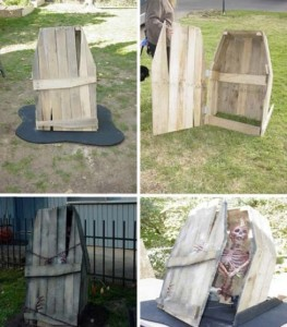 Decoration ideas for Halloween ​​with pallets 1