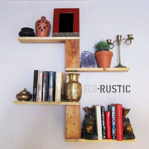 How to create a design bookshelf with pallets 1