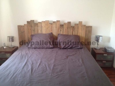 Instructions for making a bed headboard with pallets
