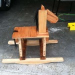Pallet wooden rocking horse for children
