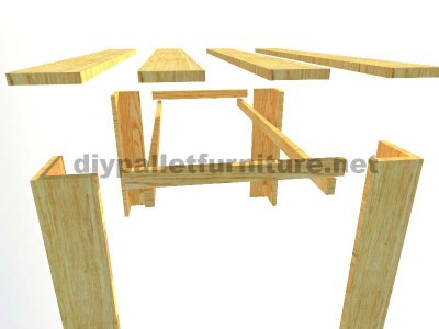 Plans to make a table with pallet planks 3