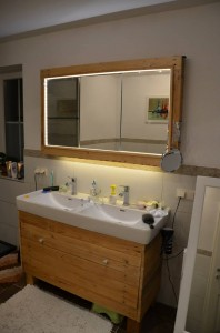Sink cabinet and mirror made ​​with pallets 3