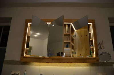 Sink cabinet and mirror made ​​with pallets 4