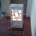 Vintage lamp made of pallets