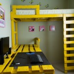 Win space in your room with this loft bed solution with pallets