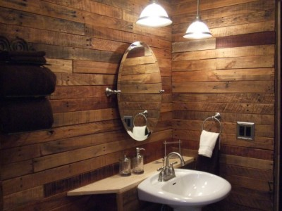10 great ideas to decorate your bathroom with pallets 11