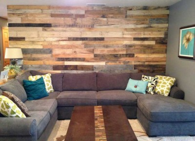 10 magnificent living rooms decorated with pallet for Living room furniture made out of pallets