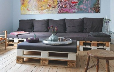10 magnificent living rooms decorated with pallets 8