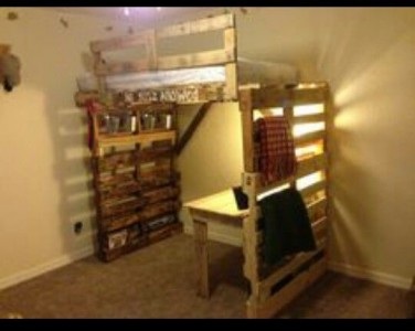8 bunk bed ideas made completely with pallets 1