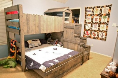 8 bunk bed ideas made completely with pallets 10