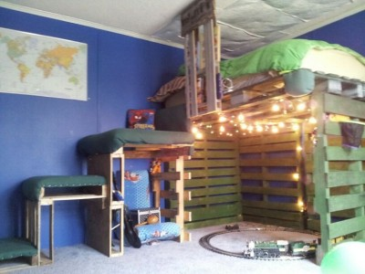 8 bunk bed ideas made completely with pallets 7