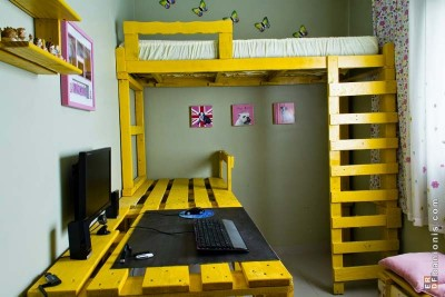 8 bunk bed ideas made completely with pallets 8