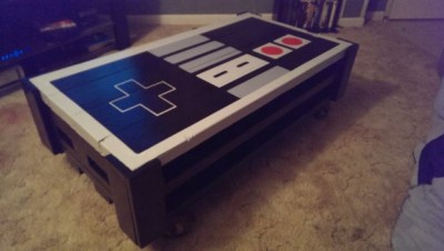 A pallet NES table, made with 2 pallets 11