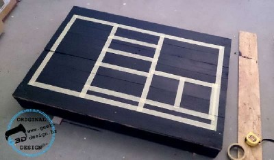 A pallet NES table, made with 2 pallets 5