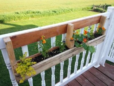 Build 2 planters for a fence using one pallet 12