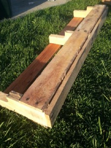 Build 2 planters for a fence using one pallet 6