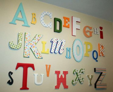 Design and build a decorative letter using pallet boards 1