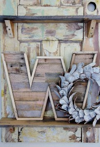 Design and build a decorative letter using pallet boards 9