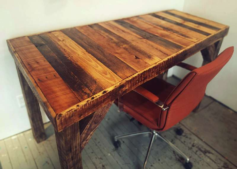 How To Build A Vintage Desk For Your Officediy Pallet