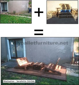 Improve your garden with just some wooden pallets 1