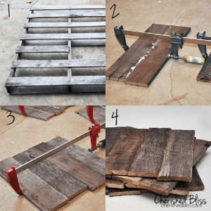 Instructions for how to make 4 placemats with pallets 4