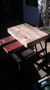 Instructions of how to build a bedside table with pallets 10