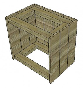 Instructions of how to build a bedside table with pallets 3