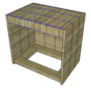 Instructions of how to build a bedside table with pallets 7