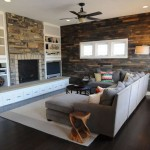 Instructions of how to coat the wall of a living room using pallets