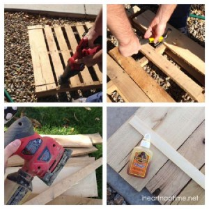Instructions of how to make a christmas wooden mural with pallets 4
