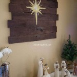 Instructions of how to make a christmas wooden mural with pallets