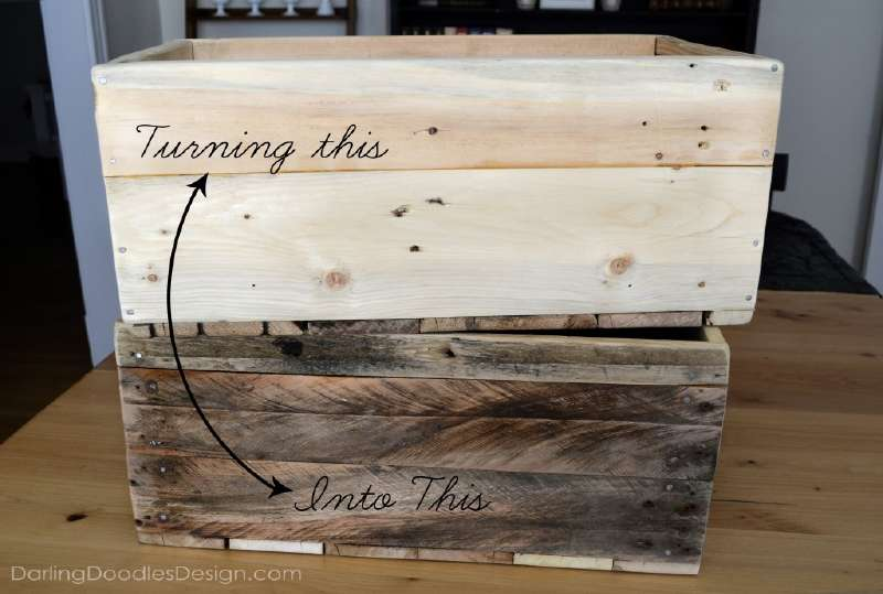 Instructions of how to make a storage pallet boxdiy pallet for Storage box made from pallets