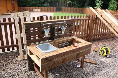 Instructions to build a play kitchen with pallets 5
