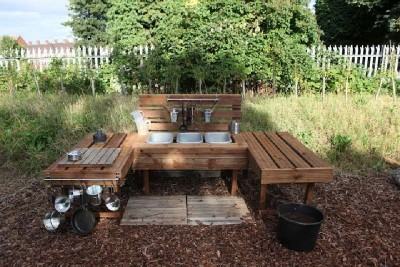 Instructions to build a play kitchen with pallets 7