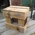 Instructions to build a stool with pallets