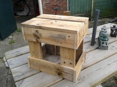 Instructions to build a stool with pallets 3