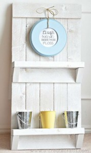 Instructions to create a pallet furniture rack for the bathroom 1