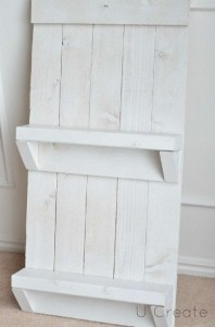 Instructions to create a pallet furniture rack for the bathroom 6