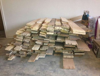 Instructions to pave the floor of your house with pallet planks 2