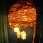 Lamp structure built using pallet boards