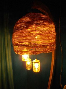 Lamp structure built using pallet boards 1
