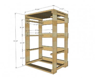 Plans and instructions to build a drawer for the dirty clothes with pallets 2