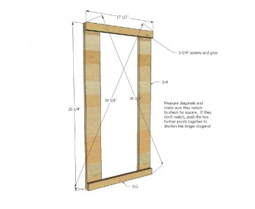 Plans and instructions to build a drawer for the dirty clothes with pallets 3