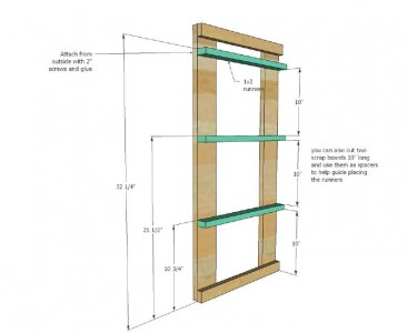 Plans and instructions to build a drawer for the dirty clothes with pallets 4