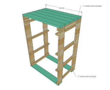 Plans and instructions to build a drawer for the dirty clothes with pallets 5