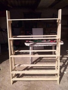 Shelf made ​​with pallets step by step  1