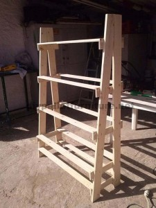 Shelf made ​​with pallets step by step  2