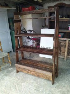 Shelf made ​​with pallets step by step  5